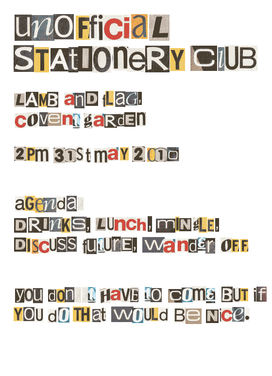 Stationery Club Unofficial Lunch