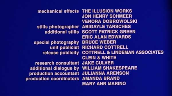 its a screen shot in which an writer is thanked