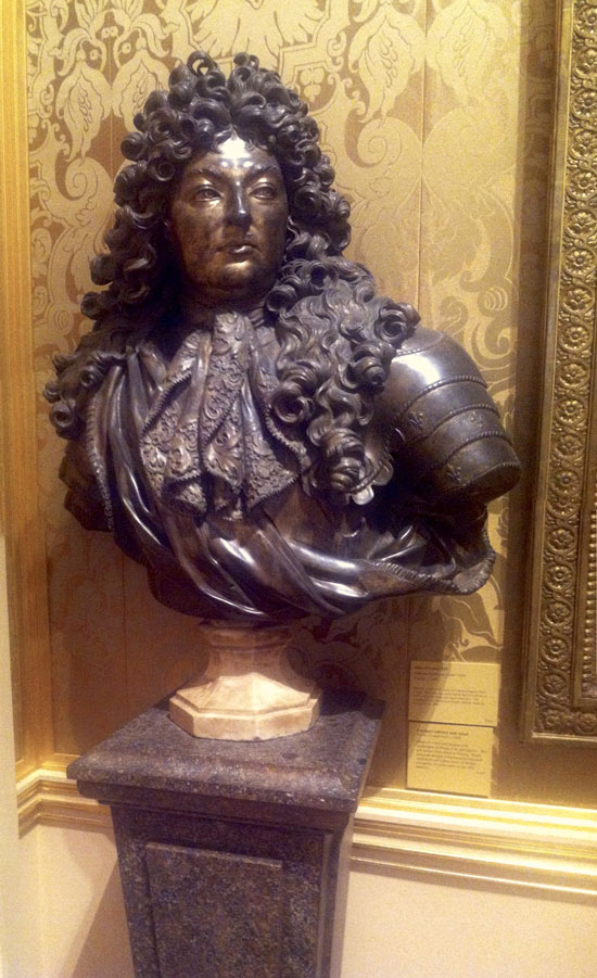 Louis XIV bust in bronze at Wallace Collection