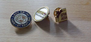 and sometimes a Canadian Food Inspection Agency pin