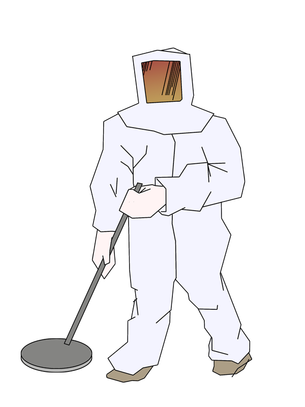 drawing of a man in one of those suits