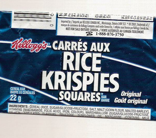 Rice Krispy Square Wrapper